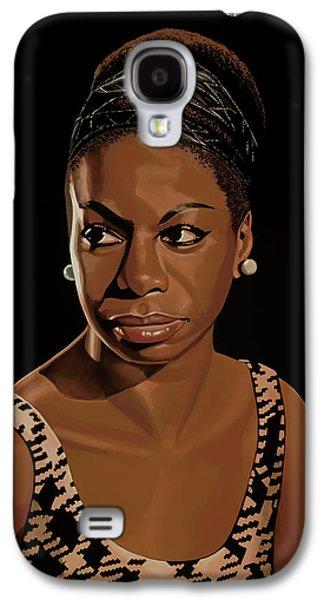 Nina Simone Painting 2 Galaxy S4 Case by Paul Meijering