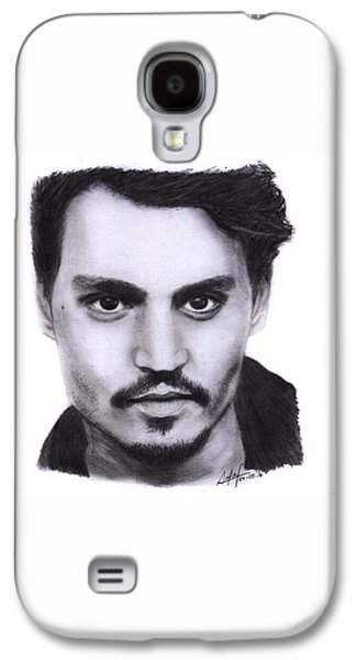 Johnny Depp Drawing By Sofia Furniel Galaxy S4 Case