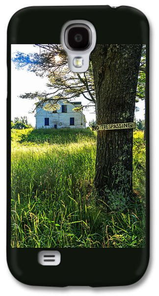 No Trespassing Galaxy S4 Case by Laurie Breton