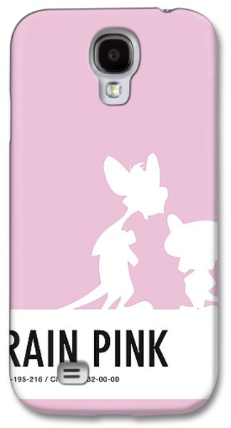 Pig Galaxy S4 Case - No01 My Minimal Color Code Poster Pinky And The Brain by Chungkong Art