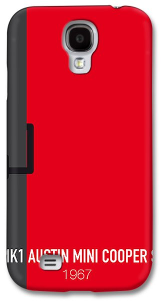 No018 My The Italian Job Minimal Movie Car Poster Galaxy S4 Case by Chungkong Art