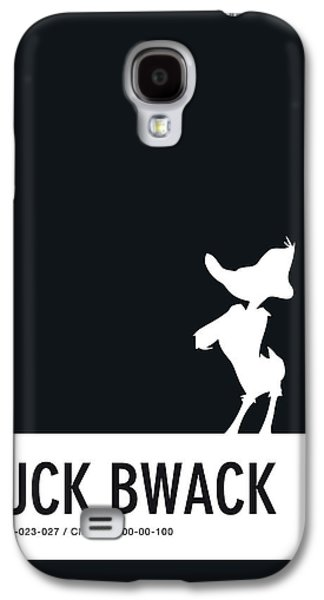 No03 My Minimal Color Code Poster Daffy Duck Galaxy S4 Case