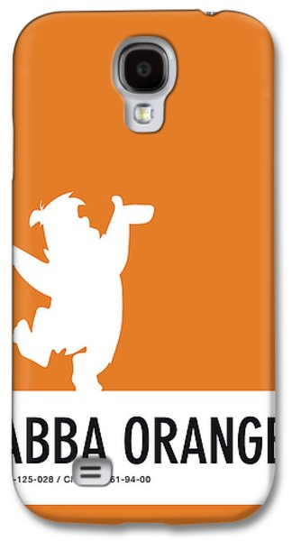 Mice Galaxy S4 Case - No04 My Minimal Color Code Poster Fred Flintstone by Chungkong Art