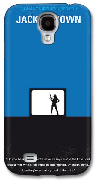 Grey Digital Galaxy S4 Cases - No044 My Jackie Brown minimal movie poster Galaxy S4 Case by Chungkong Art