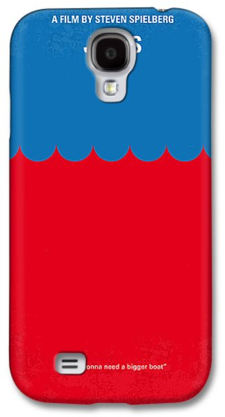 No046 My Jaws Minimal Movie Poster Galaxy S4 Case by Chungkong Art