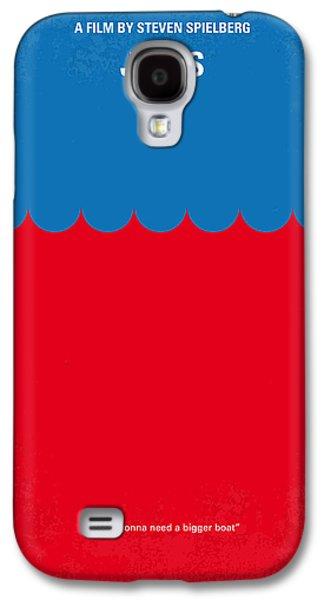 No046 My Jaws Minimal Movie Poster Galaxy S4 Case by Chungkong Art