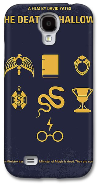 No101-7 My Hp - Deathly Hallows Minimal Movie Poster Galaxy S4 Case by Chungkong Art