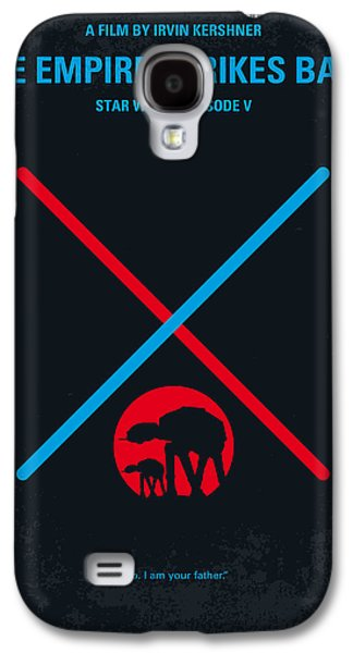 Knight Galaxy S4 Case - No155 My Star Wars Episode V The Empire Strikes Back Minimal Movie Poster by Chungkong Art