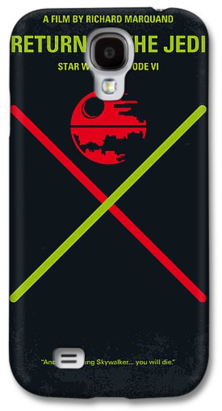 No156 My Star Wars Episode Vi Return Of The Jedi Minimal Movie Poster Galaxy S4 Case