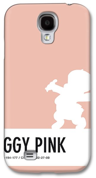 Pig Galaxy S4 Case - No17 My Minimal Color Code Poster Porky Pig by Chungkong Art