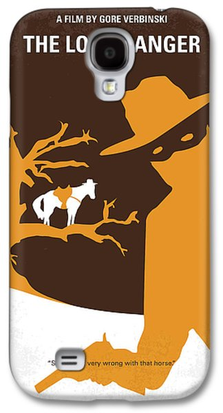 No202 My The Lone Ranger Minimal Movie Poster Galaxy S4 Case by Chungkong Art