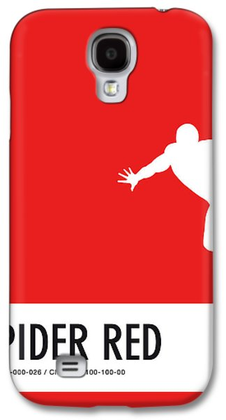 Spider Galaxy S4 Case - No24 My Minimal Color Code Poster Spiderman by Chungkong Art
