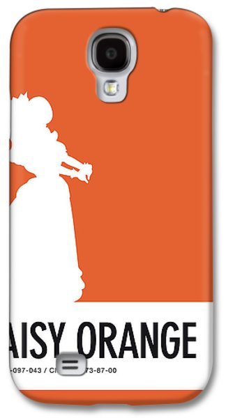 Daisy Galaxy S4 Case - No35 My Minimal Color Code Poster Princess Daisy by Chungkong Art