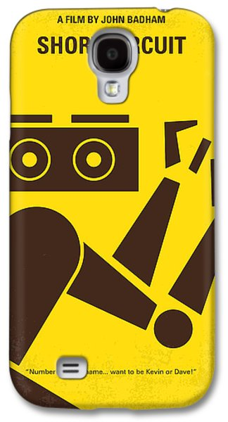 No470 My Short Circuit Minimal Movie Poster Galaxy S4 Case by Chungkong Art