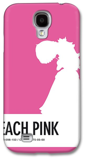 No44 My Minimal Color Code Poster Peach Galaxy S4 Case by Chungkong Art
