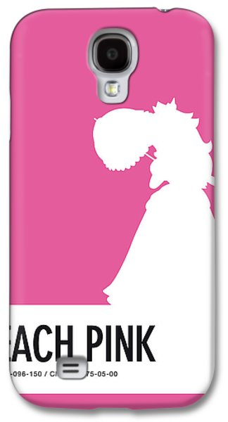 Daisy Galaxy S4 Case - No44 My Minimal Color Code Poster Peach by Chungkong Art
