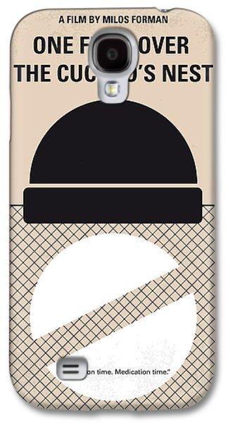 Jack Nicholson Galaxy S4 Case - No454 My One Flew Over The Cuckoos Nest Minimal Movie Poster by Chungkong Art