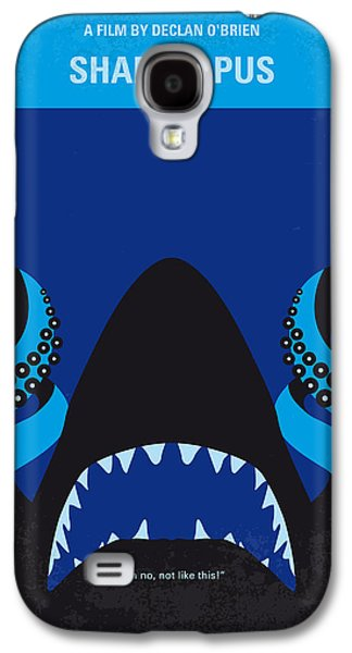 Sharks Galaxy S4 Case - No485 My Sharktopus Minimal Movie Poster by Chungkong Art