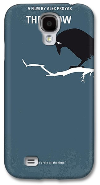 No488 My The Crow Minimal Movie Poster Galaxy S4 Case by Chungkong Art