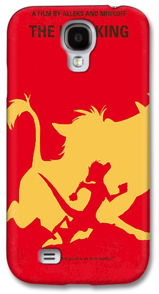 No512 My The Lion King Minimal Movie Poster Galaxy S4 Case by Chungkong Art