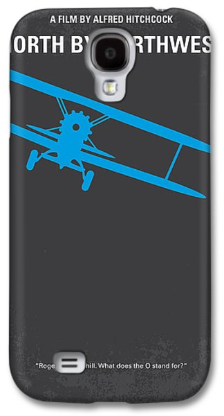 No535 My North By Northwest Minimal Movie Poster Galaxy S4 Case by Chungkong Art
