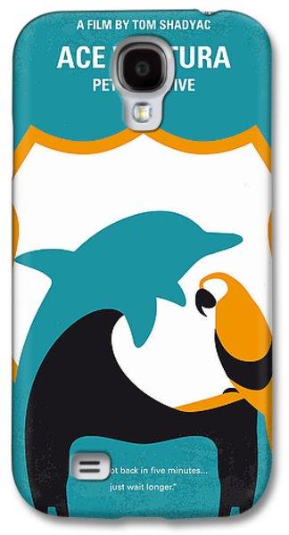No558 My Ace Ventura Minimal Movie Poster Galaxy S4 Case by Chungkong Art