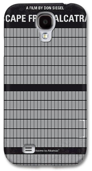 No566 My Escape From Alcatraz Minimal Movie Poster Galaxy S4 Case by Chungkong Art