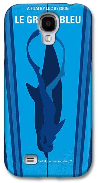 No577 My Big Blue Minimal Movie Poster Galaxy S4 Case