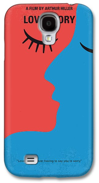 No600 My Love Story Minimal Movie Poster Galaxy S4 Case by Chungkong Art