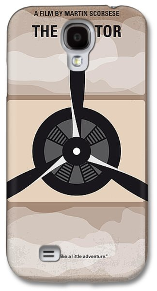 Airplane Galaxy S4 Case - No618 My The Aviator Minimal Movie Poster by Chungkong Art