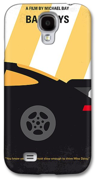 No627 My Bad Boys Minimal Movie Poster Galaxy S4 Case by Chungkong Art