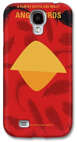 No658 My Angry Birds Movie Minimal Movie Poster Galaxy S4 Case by Chungkong Art