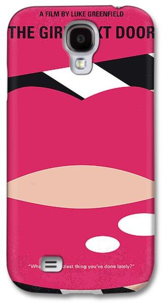 No670 My The Girl Next Door Minimal Movie Poster Galaxy S4 Case by Chungkong Art