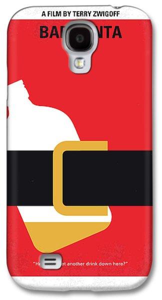 No702 My Bad Santa Minimal Movie Poster Galaxy S4 Case by Chungkong Art
