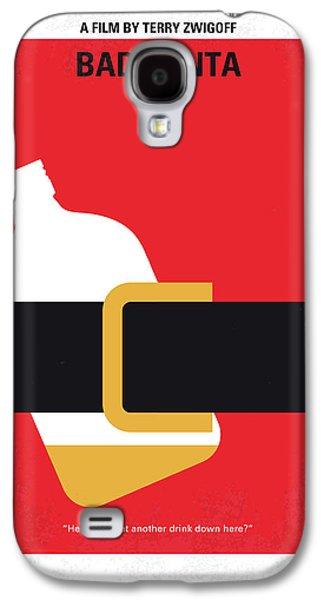 No702 My Bad Santa Minimal Movie Poster Galaxy S4 Case