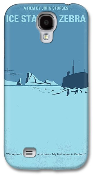 No711 My Ice Station Zebra Minimal Movie Poster Galaxy S4 Case by Chungkong Art