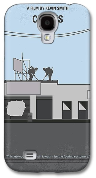 No715 My Clerks Minimal Movie Poster Galaxy S4 Case by Chungkong Art