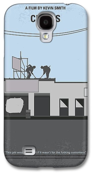 No715 My Clerks Minimal Movie Poster Galaxy S4 Case by Chungkong Art