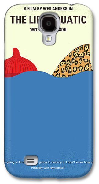 No774 My The Life Aquatic With Steve Zissou Minimal Movie Poster Galaxy S4 Case by Chungkong Art