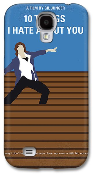 Heath Ledger Galaxy S4 Case - No850 My 10 Things I Hate About You Minimal Movie Poster by Chungkong Art