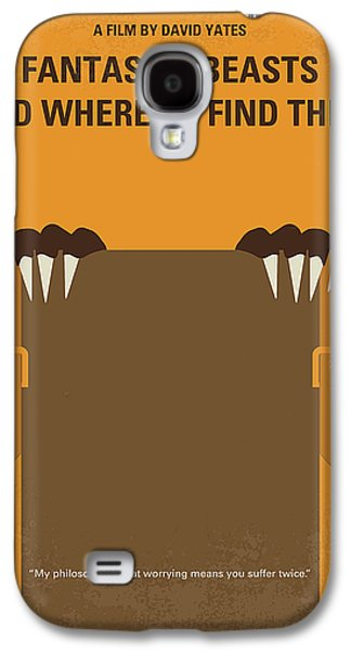 Wizard Galaxy S4 Case - No962 My Fantastic Beasts And Where To Find Them Minimal Movie Poster by Chungkong Art