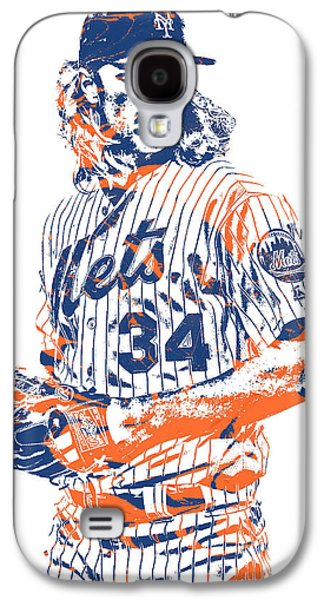 New York Mets Galaxy S4 Case - Noah Syndergaard New York Mets Pixel Art 1 by Joe Hamilton