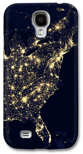 North America At Night Galaxy S4 Case by Happy Home Artistry