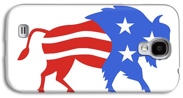 North American Bison Usa Flag Retro Galaxy S4 Case