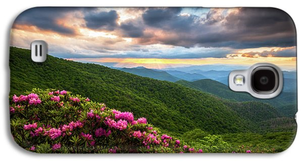 Mountain Sunset Galaxy S4 Case - North Carolina Blue Ridge Parkway Scenic Landscape Asheville Nc by Dave Allen