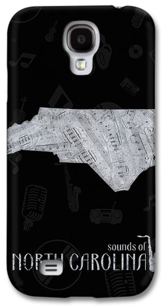 North Carolina Map Music Notes 2 Galaxy S4 Case