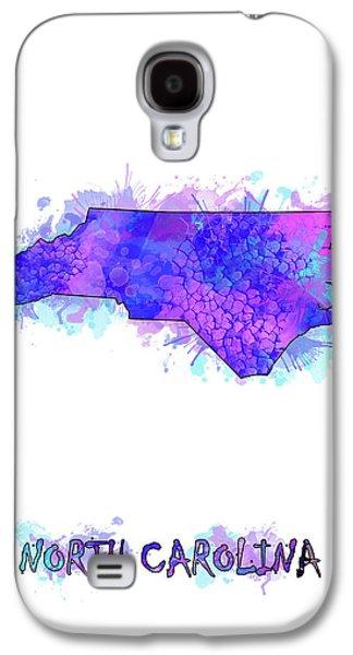North Carolina Map Watercolor 2 Galaxy S4 Case