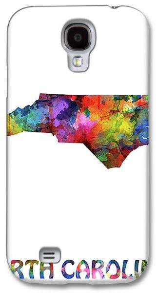 North Carolina Map Watercolor Galaxy S4 Case