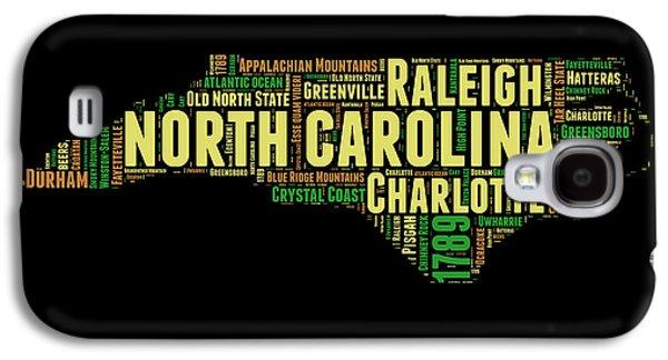 North Carolina Word Cloud Map 1 Galaxy S4 Case by Naxart Studio
