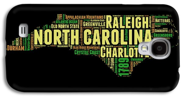North Carolina Word Cloud Map 1 Galaxy S4 Case by Naxart Studio